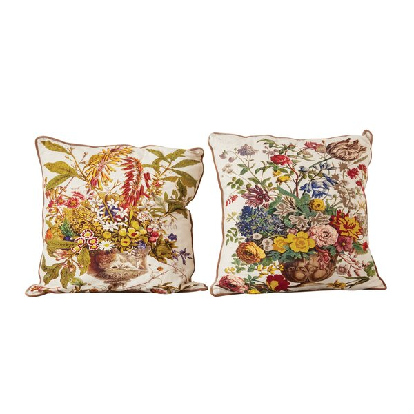 Haledon 100% Cotton Printed 2 Piece Euro Pillow Set by August Grove